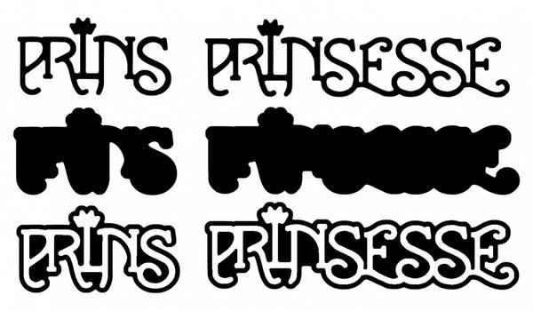 Prins Prinsesse m/skygge